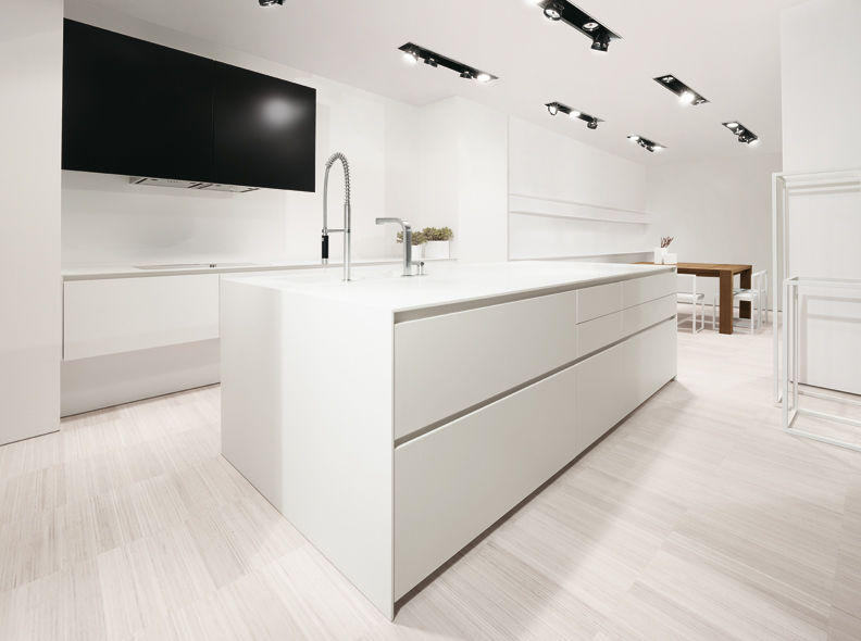 Contemporary kitchen / Corian® / island / lacquered - 012 - MK CUCINE