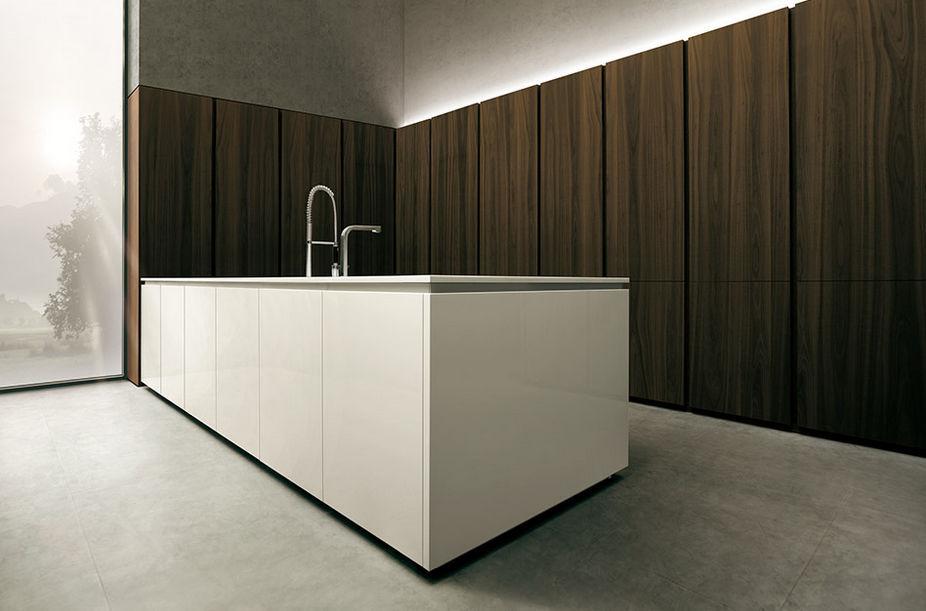 contemporary kitchen / wooden / corian® / island - 04 - mk cucine - Cucine Mk