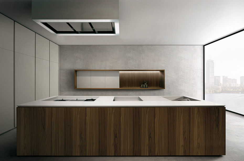 Contemporary kitchen / wooden / Corian® / island - 045 - MK CUCINE