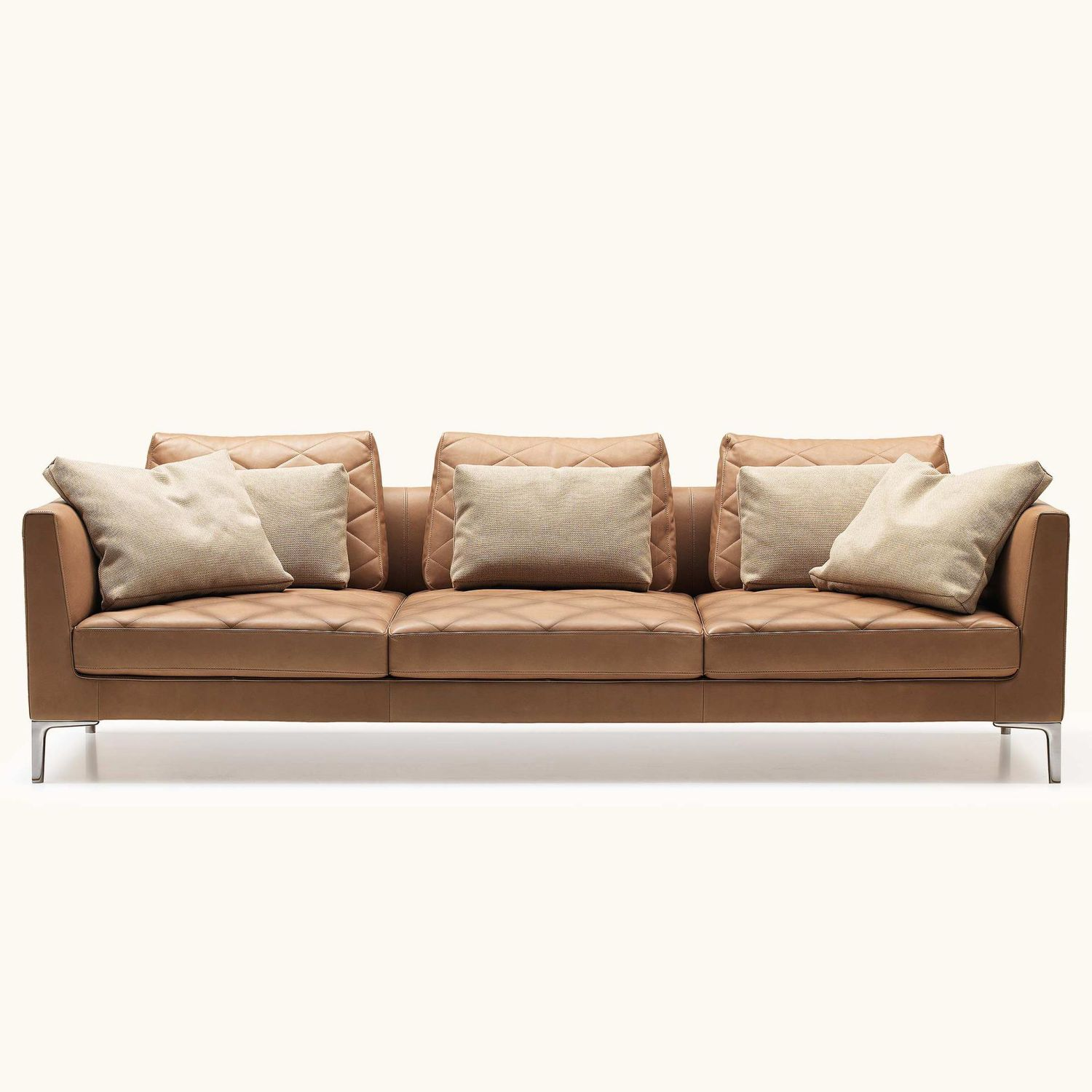 Contemporary sofa / leather / wood / 2-person - DS-48 by Gordon ...