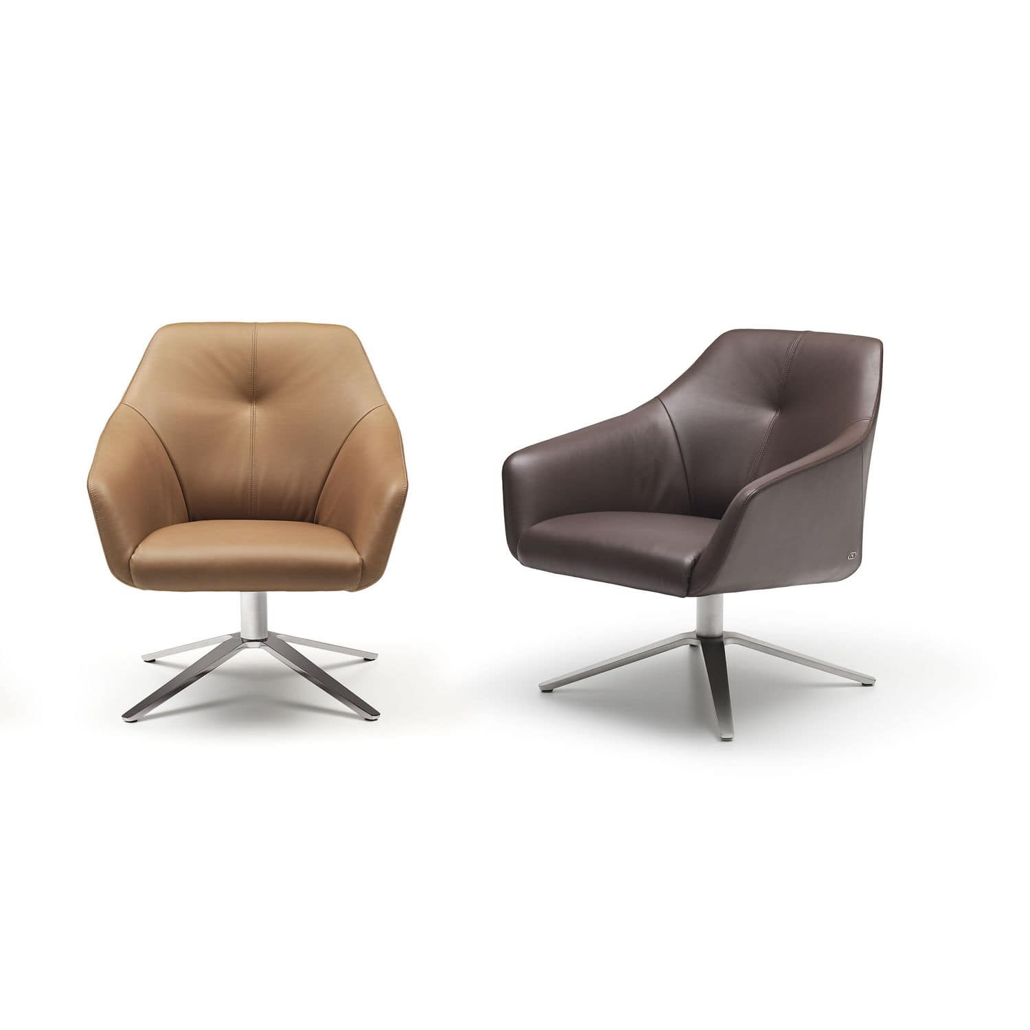 contemporary armchair  leather  swivel  star base  ds  de  - contemporary armchair  leather  swivel  star base  ds
