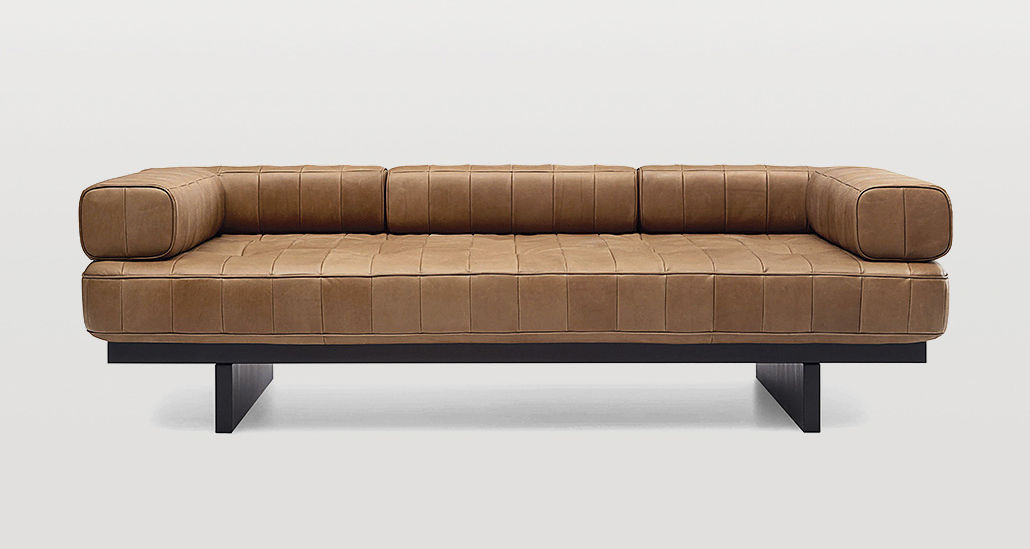 Contemporary Sofa Leather 3 Seater Brown Ds 80