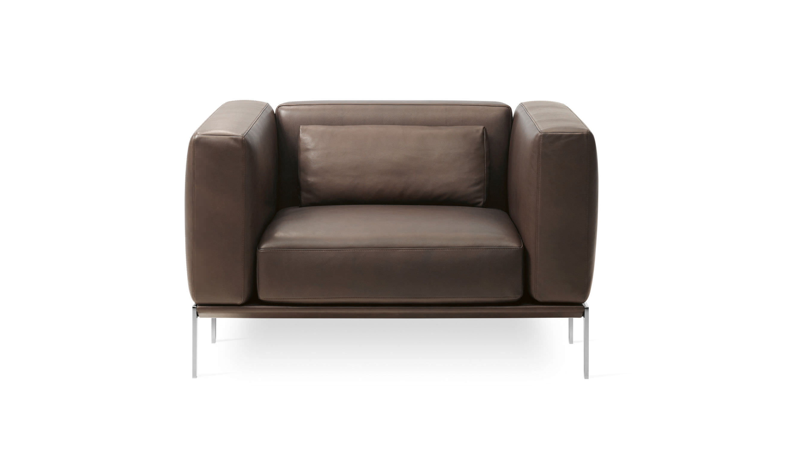 ... Contemporary Armchair / Fabric / Leather / Retractable ...