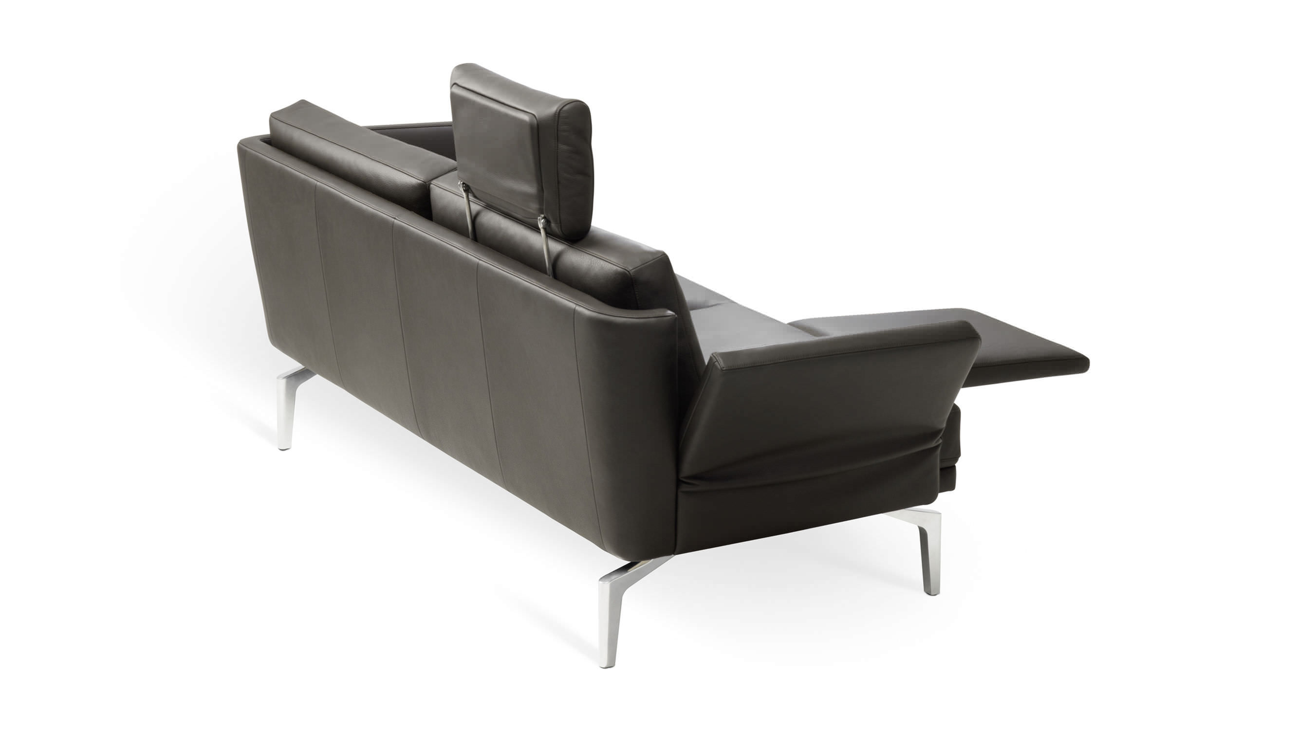 ... Compact Sofa / Contemporary / Leather / Fabric ...