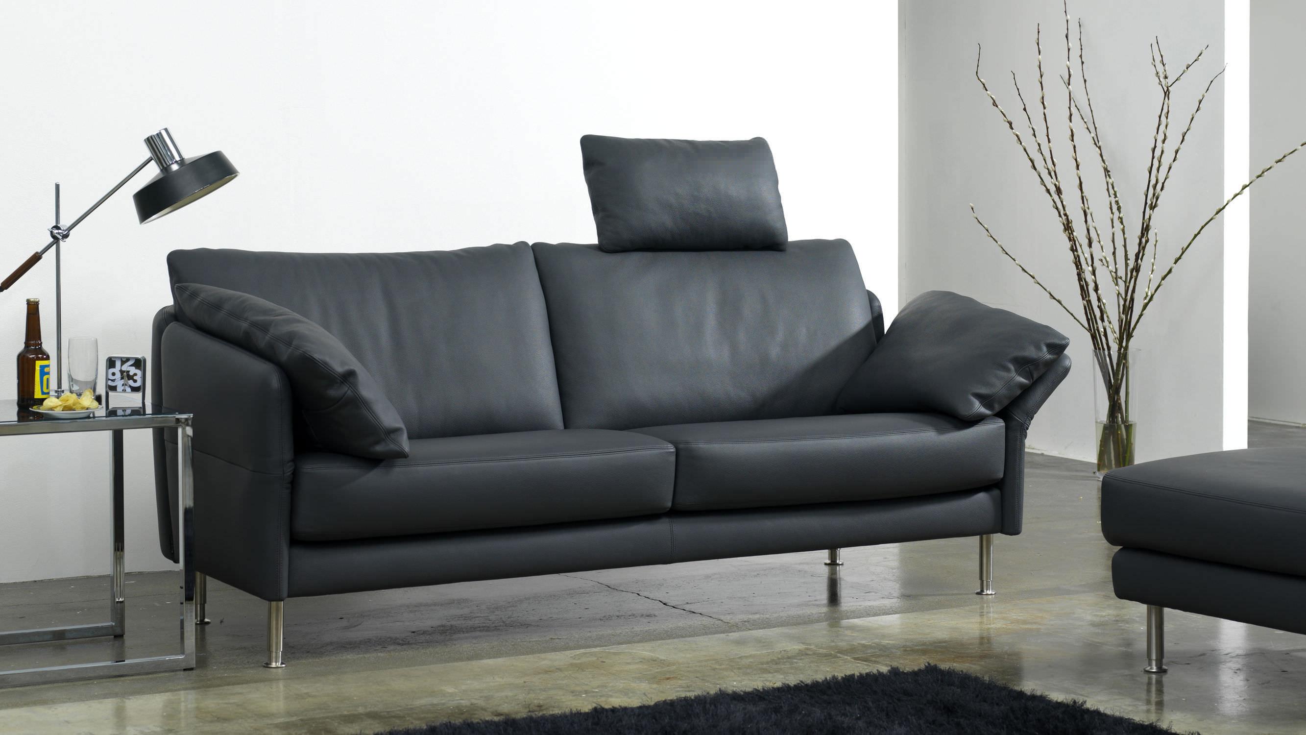 Ledersofa schwarz modern  leder sofa schwarz kunstleder. elegant shopthewall sofa concept201 ...