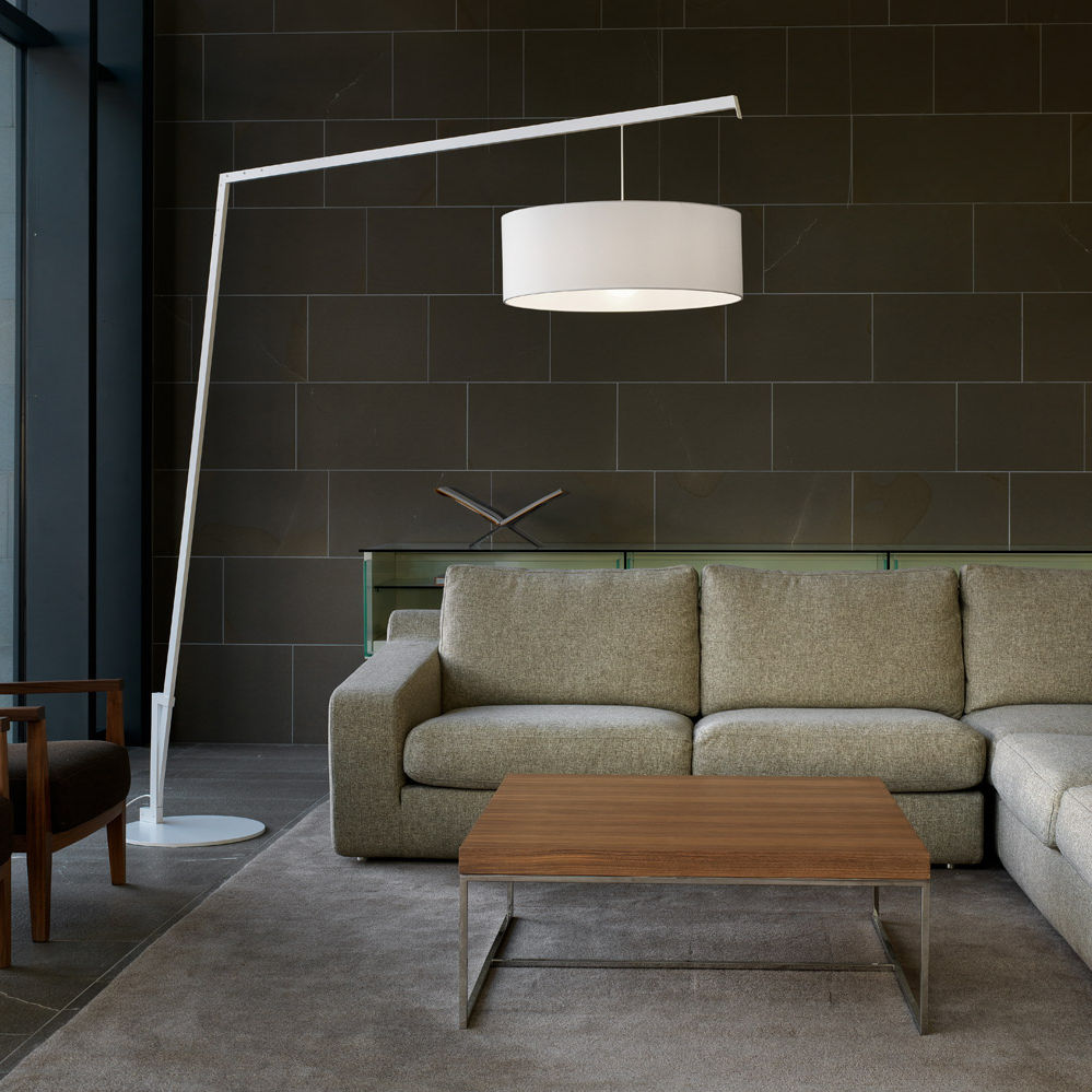 Floor Standing Lamp / Contemporary / Painted Metal / Fabric   ANGELICA By  Paolo Grasselli