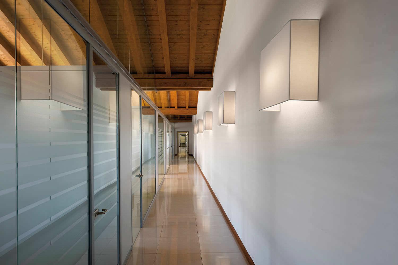 Contemporary wall light cotton led square quadrato modo luce