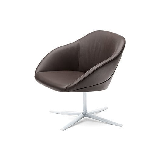 ... Contemporary Lounge Chair / Fabric / Leather / Swivel ...