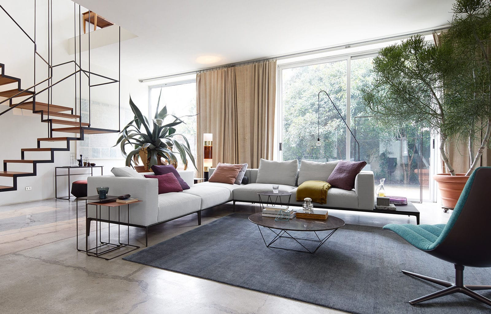 Modular Sofa Contemporary Leather 4 Seater