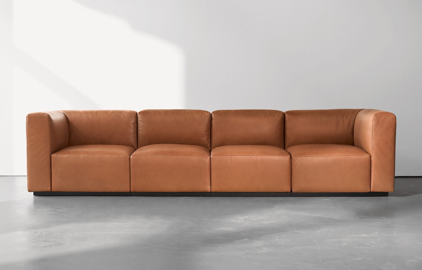Modular sofa contemporary leather 7 seater and more LIVING