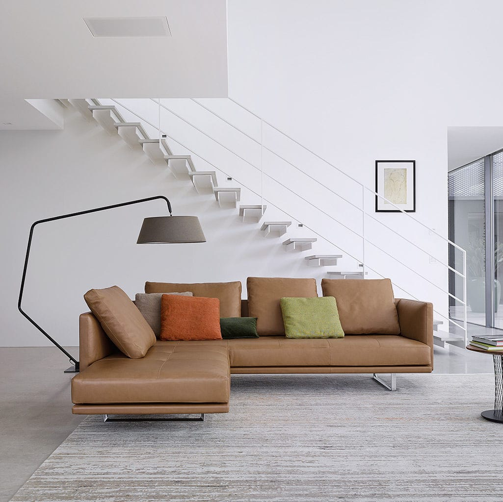 Corner sofa contemporary leather 3 seater prime time by corner sofa contemporary leather 3 seater prime time by eoos walter knoll parisarafo Gallery