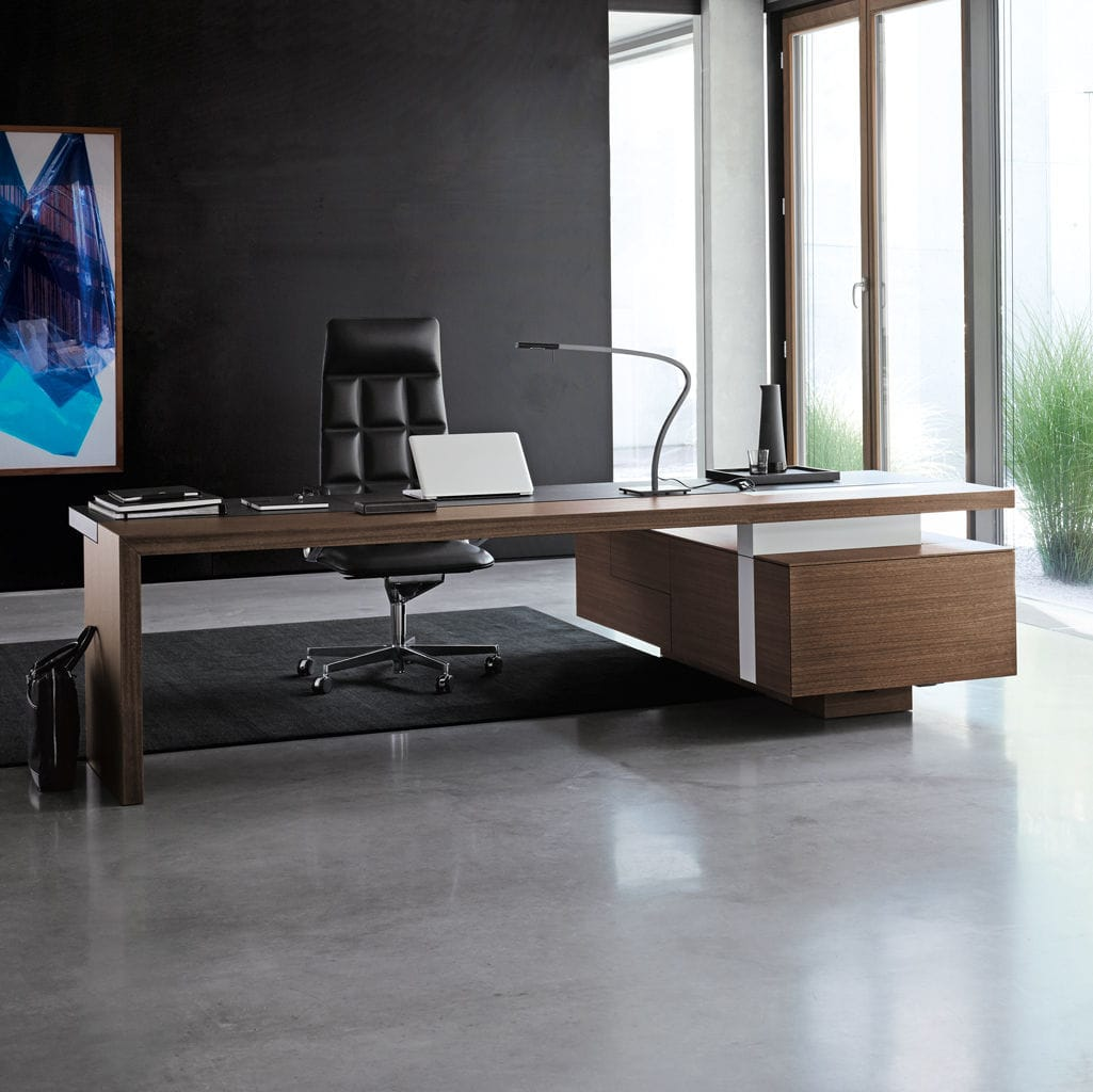 Executive Desk / Wooden / Leather / Contemporary   CEOO By Eoos