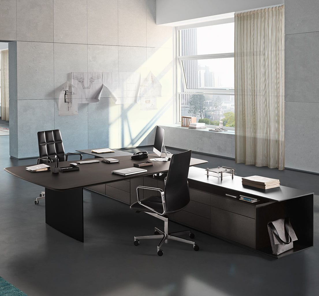 Executive Office Desk / Wooden / Contemporary / Commercial   KEYPIECE By  Eoos