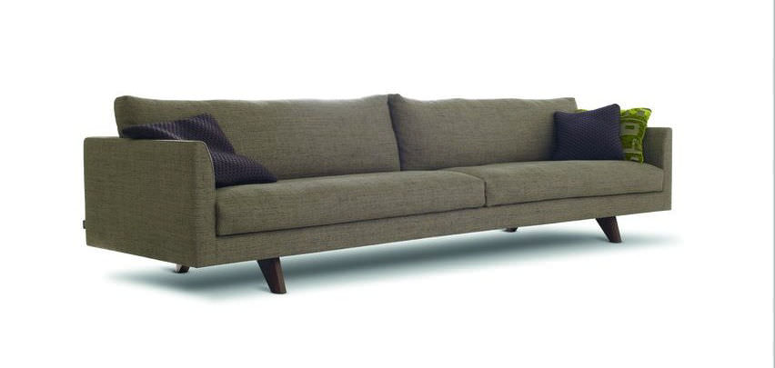 ... Contemporary Sofa / Leather / 4 Seater / Brown ...
