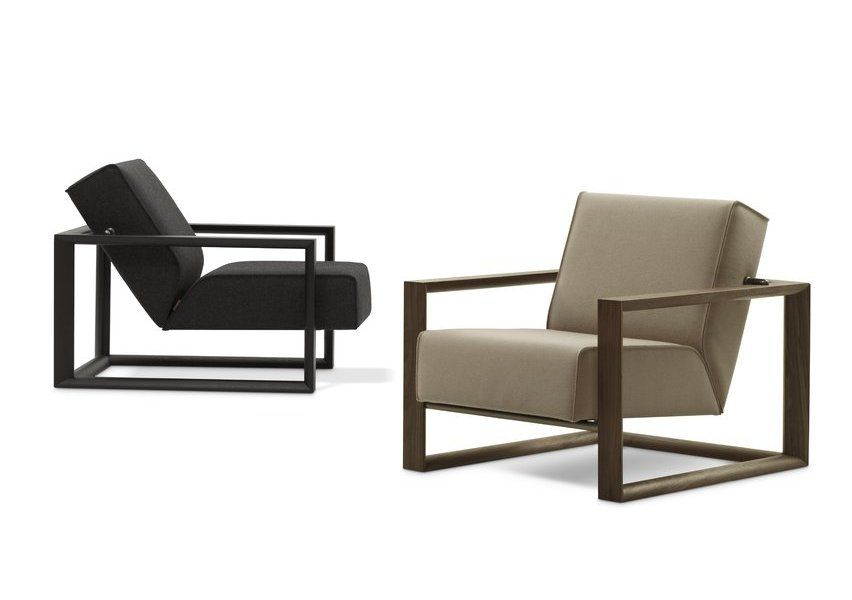 ... Modern Armchair / Wooden / Sled Base / Commercial ...