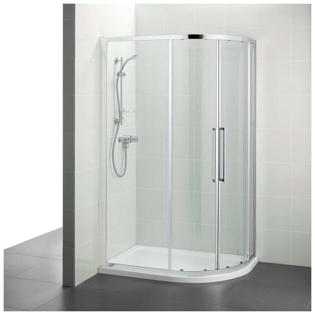 Swing shower screen / corner / curved / glass - T7355 - Ideal Standard