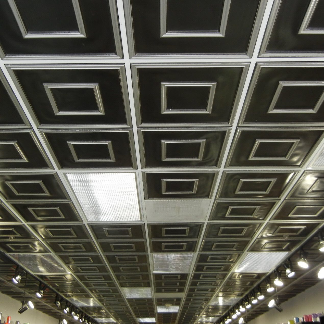 Pvc Suspended Ceiling Tile Decorative Flame Retardant 208 Ac