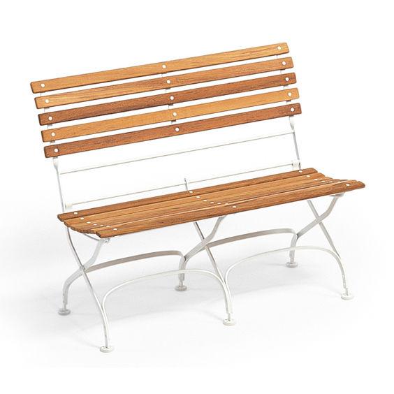 Garden bench / traditional / teak / solid wood CLASSIC WEISHÃ?UPL ...