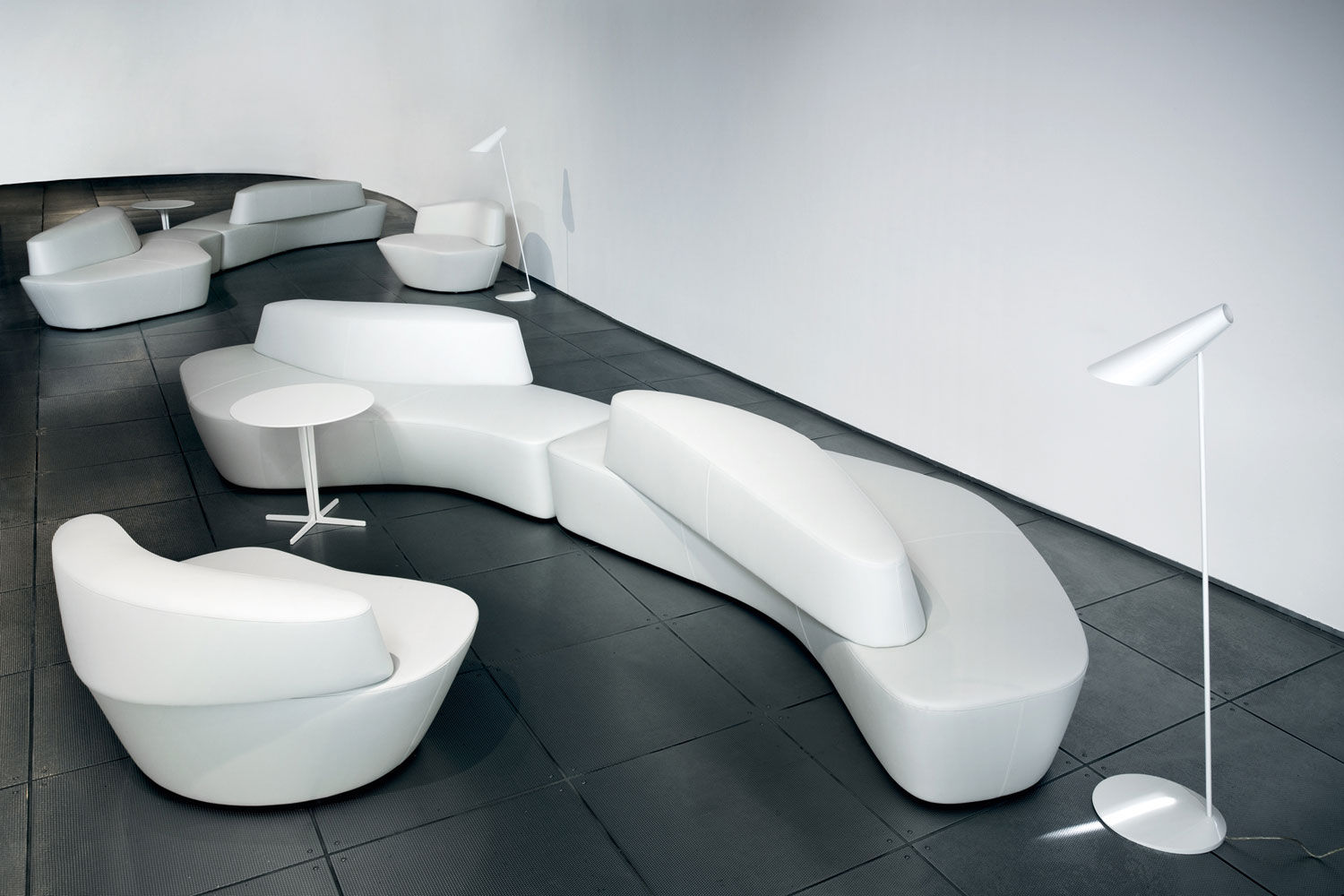 ... Modular Sofa / Contemporary / Leather / White ...
