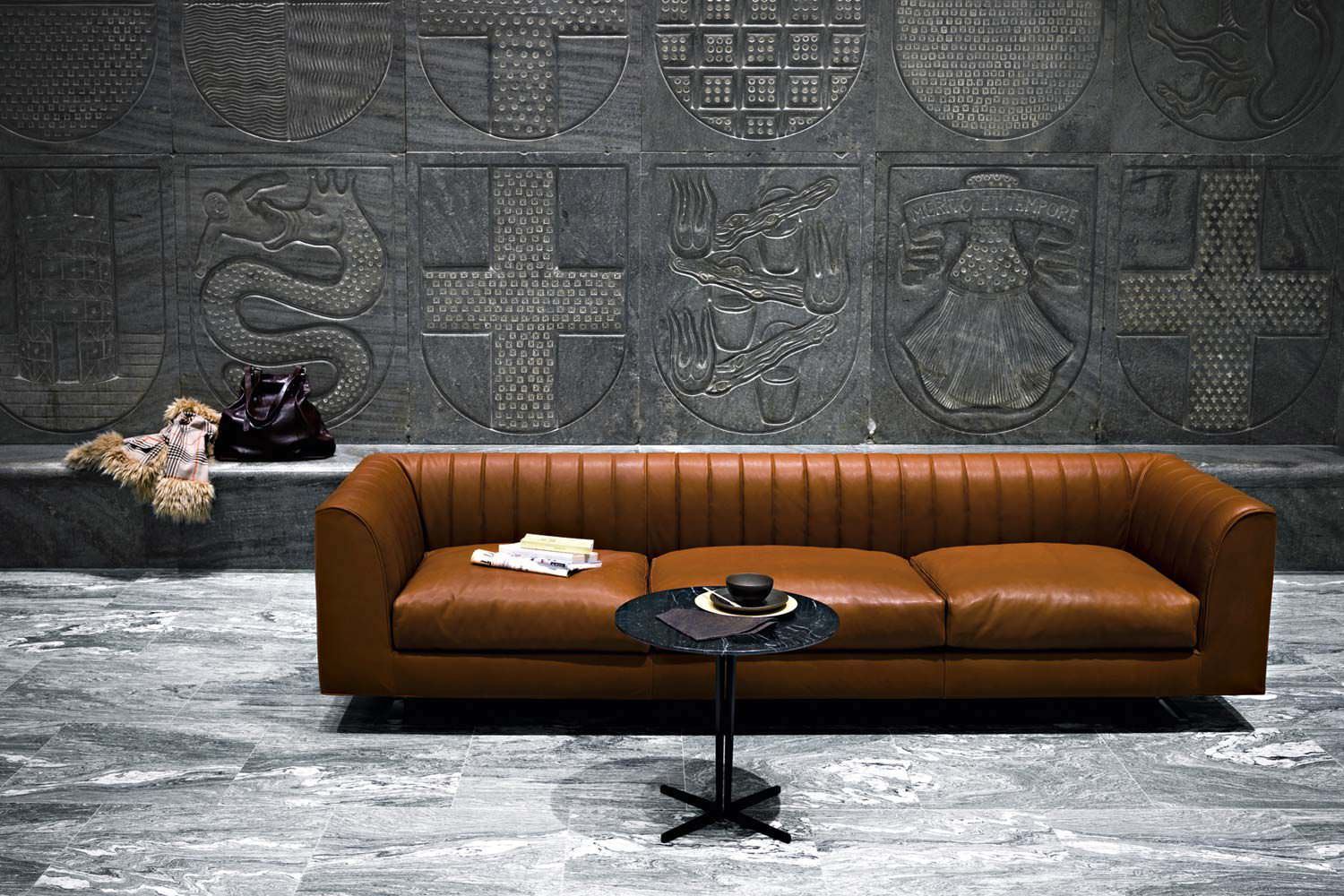 Contemporary Sofa / Fabric / Leather / 3 Seater QUILT By Pearson Lloyd  Tacchini ...
