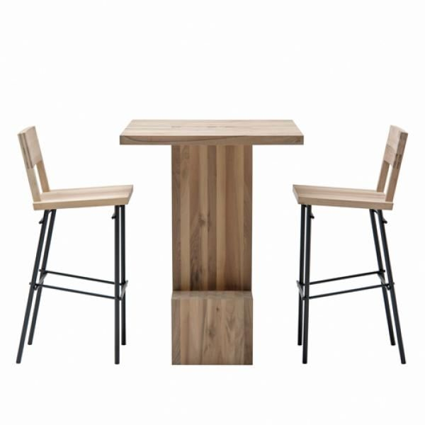 Charmant Contemporary High Bar Table / Wooden / Rectangular / For Restaurants    JEHANNES