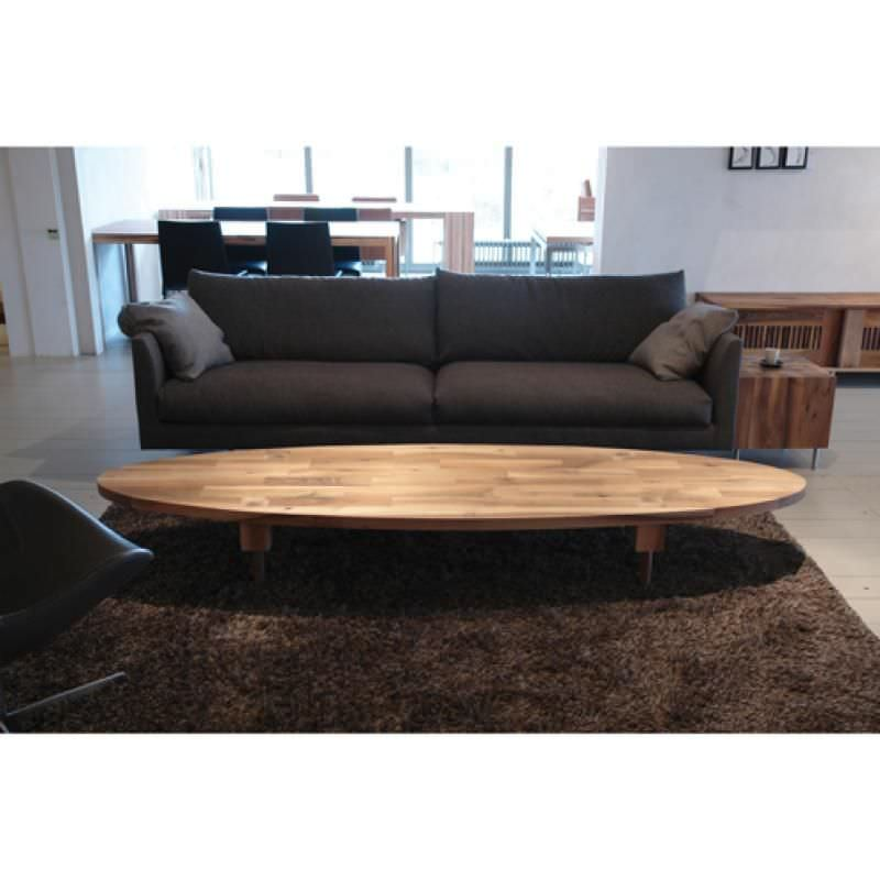 Contemporary Coffee Table Wooden Oval Round