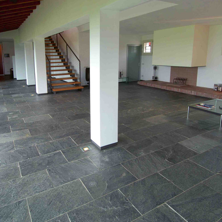 Indoor Tile Floor Slate Patterned Floor Silver Grey Artesia