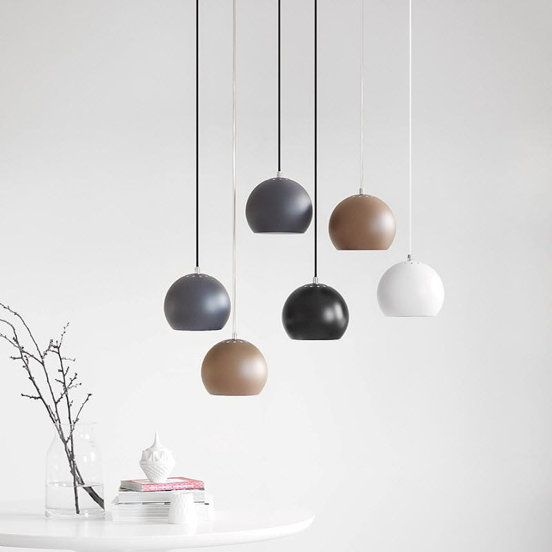 Pendant lamp contemporary metal incandescent ball