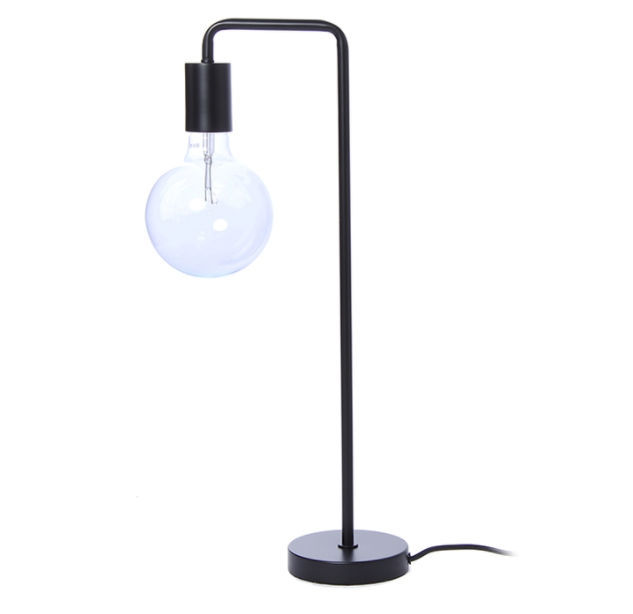 Table lamp contemporary metal glass