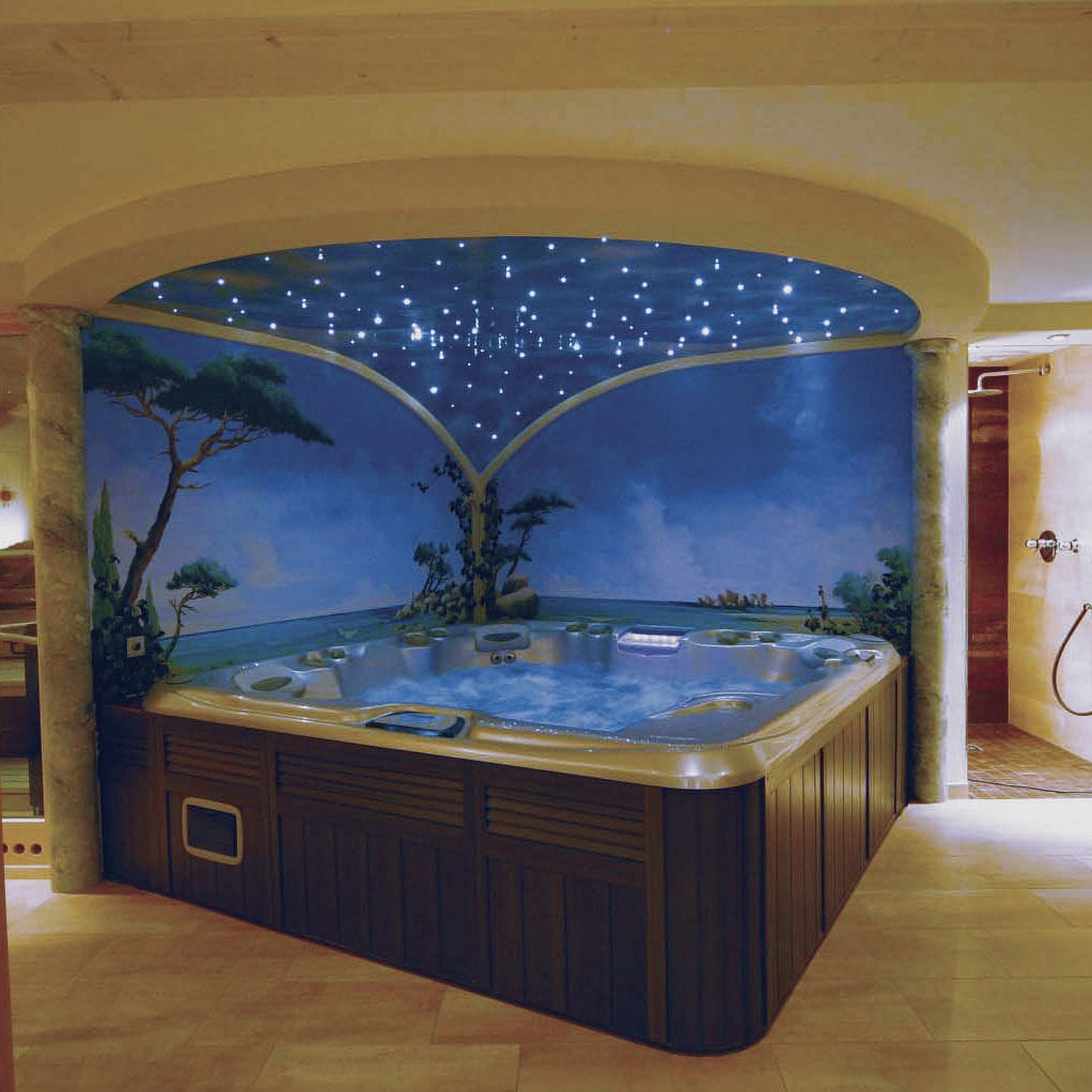 Above-ground hot tub / built-in / square / 6-person - CAMEO ...