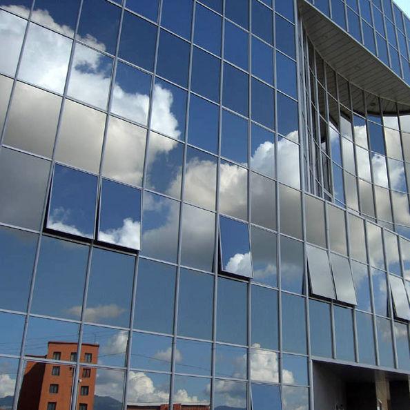 Panel curtain wall / aluminum and glass - POLIEDRA-SKY 60 - METRA
