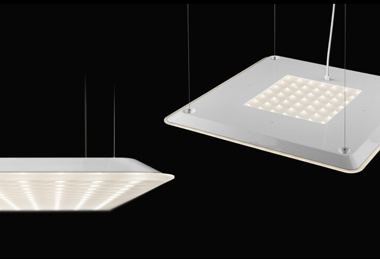 ... Hanging light fixture / LED / square / acrylic glass MODUL Q 600  PROJECT NIMBUS ...
