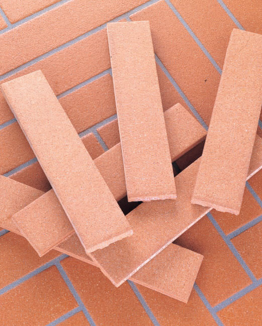 Indoor Tile Floor Terracotta Smooth Listelli Brushed