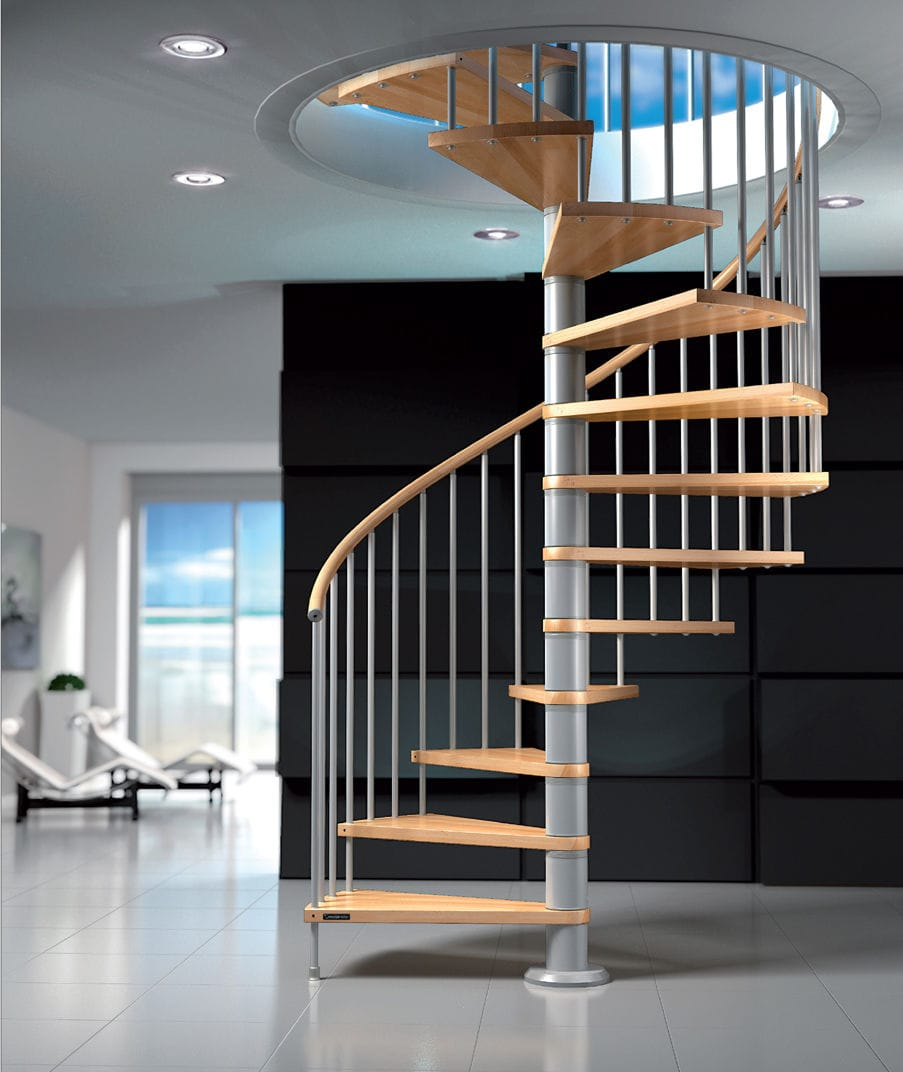 Best Spiral Staircase Spiral Staircase Wooden Steps Metal Frame Without Risers