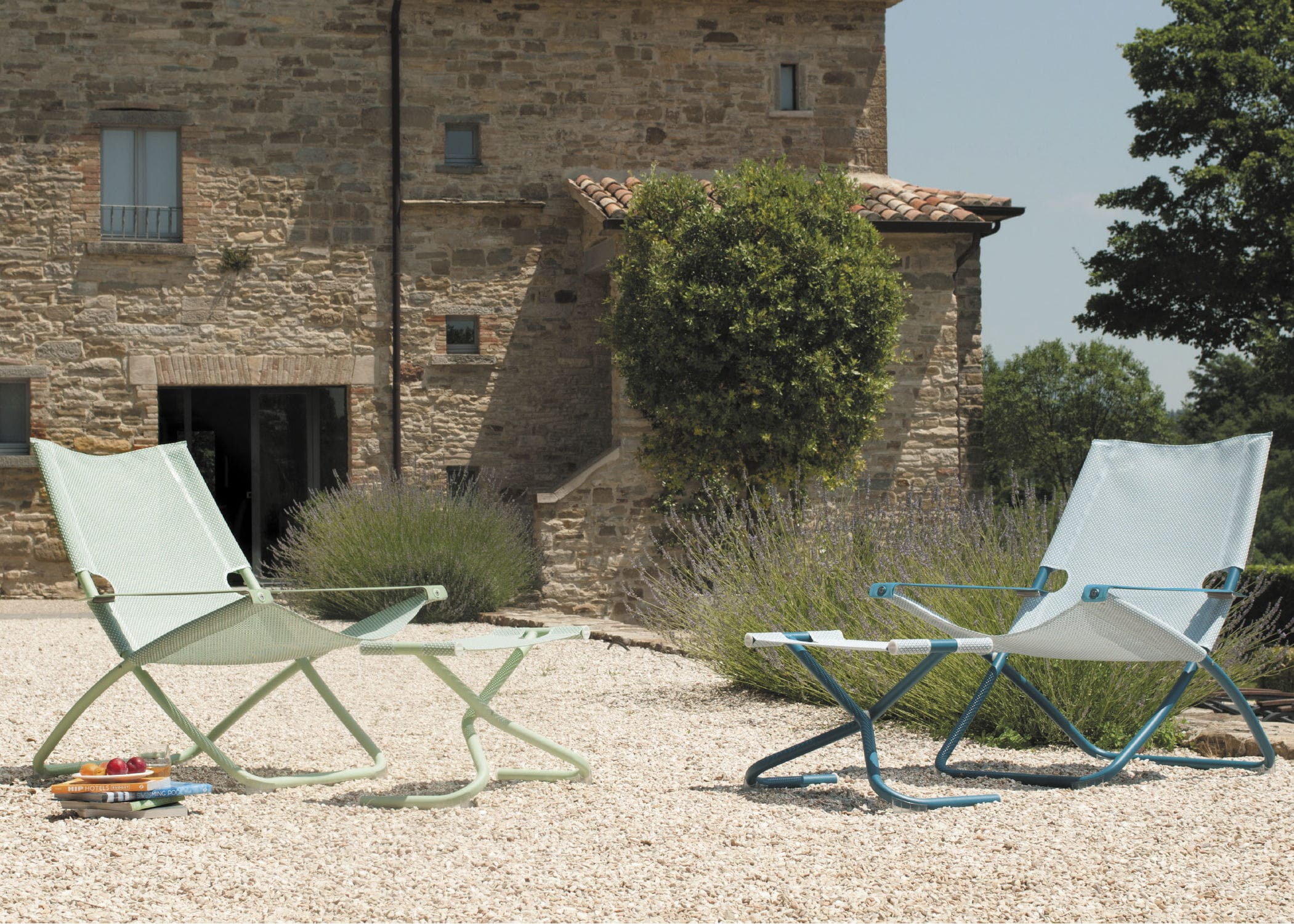 ... Contemporary Footrest / Fabric / Steel / Garden SNOOZE By  Chiaramonte Marin EMU ...