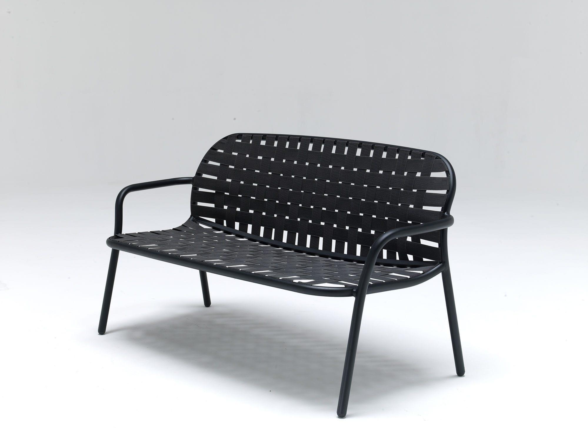 ... Garden Bench / Contemporary / Aluminum / With Backrest YARD By Stefan  Diez EMU
