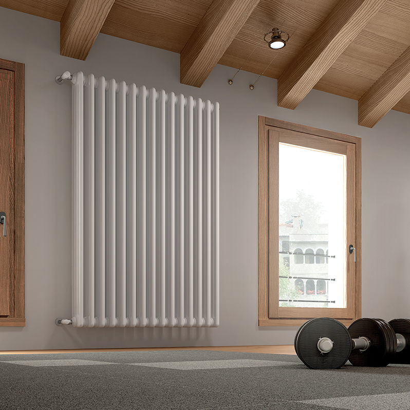Hot water radiator / low-temperature / sheet steel / contemporary ...