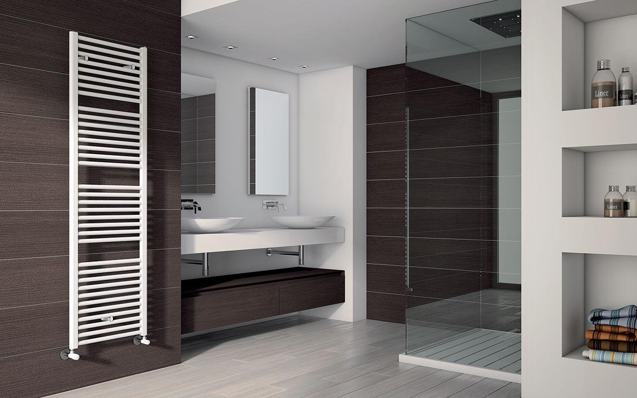 Hot Water Towel Radiator Electric Steel Chrome ARES IRSAP - Electric bathroom radiators
