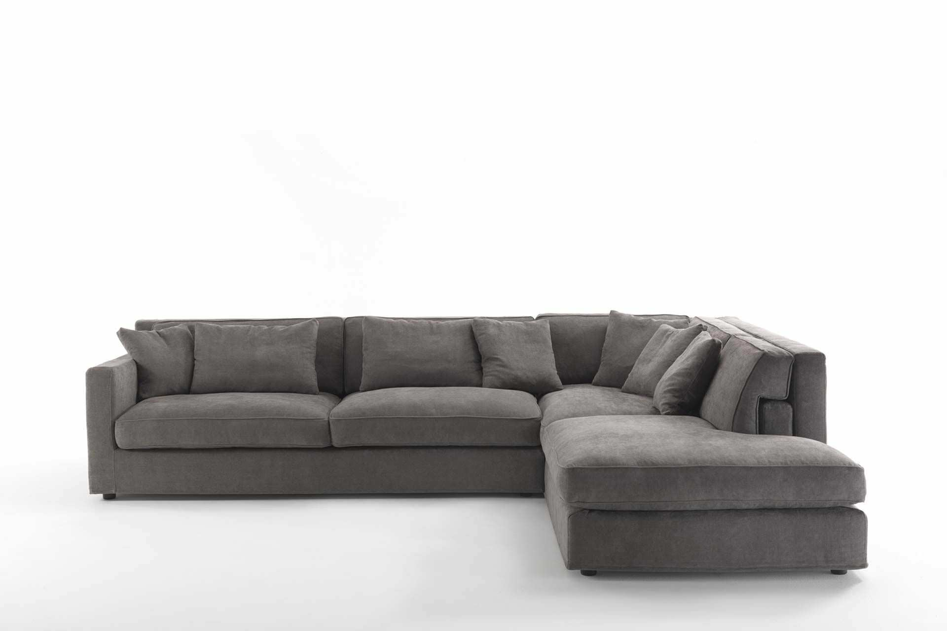 Modular sofa contemporary fabric leather JORDAN Frigerio
