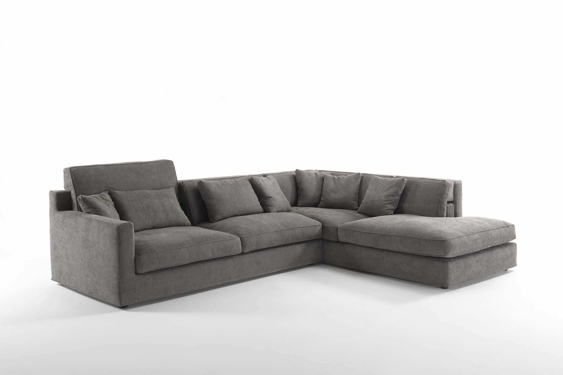 Modular sofa contemporary fabric leather JORDAN Frigerio