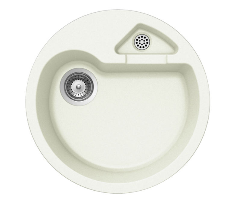 2 bowl kitchen sink composite round classic r 100 schock - Round Sinks Kitchen
