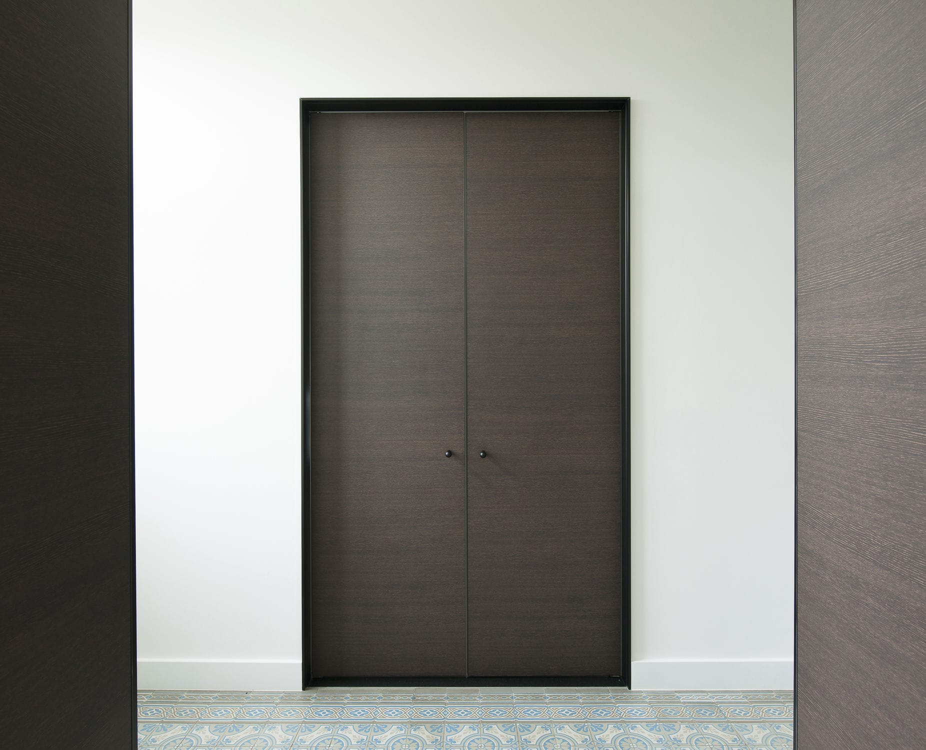 Indoor door / two-way / wooden / double SDVD / OBO-b /