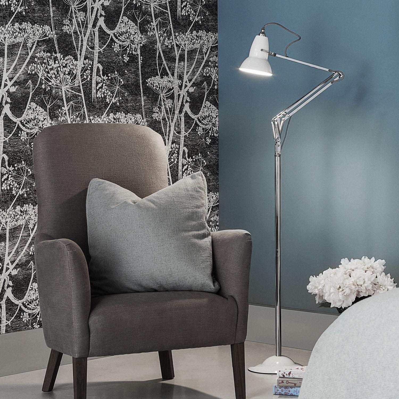 Floor-standing lamp / contemporary / aluminum / cast iron - ORIGINAL ...