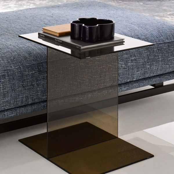 Contemporary Coffee Table / Wooden / Glass / Rectangular   ST.GERMAIN By Lo  Scalzo Moscheri