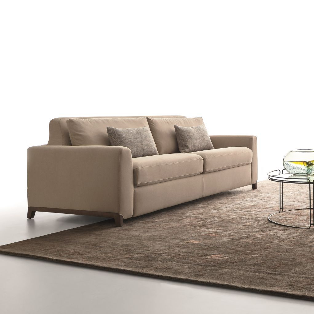 Sofa Bed Contemporary Fabric Leather Good Mood By Spessotto Agnoletto