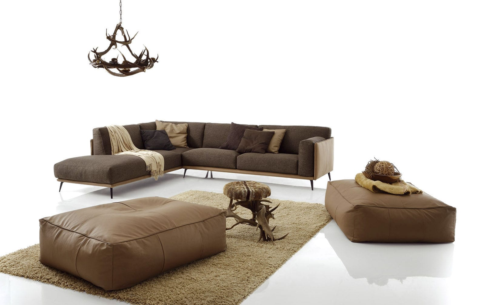 Corner Sofa Contemporary Leather Synthetic Kris Mix Low By Spessotto Agnoletto