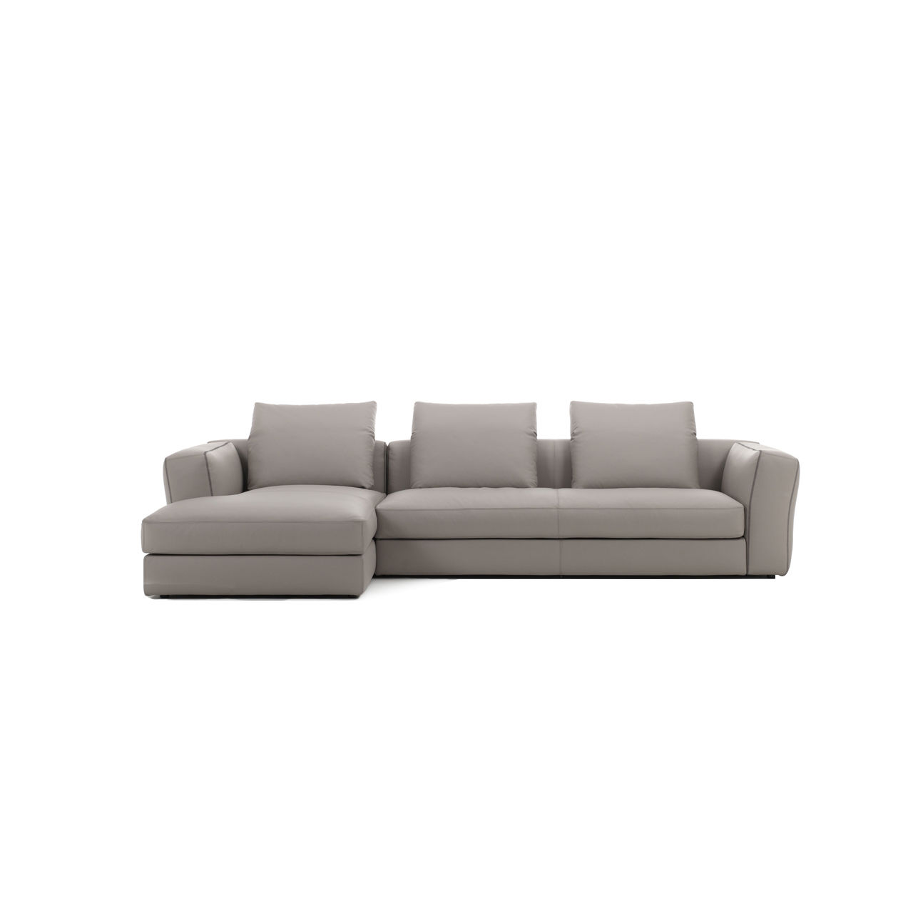 Modular Sofa / Contemporary / Leather / 3 Seater   FLOWER By Gianmaria  Conficconi