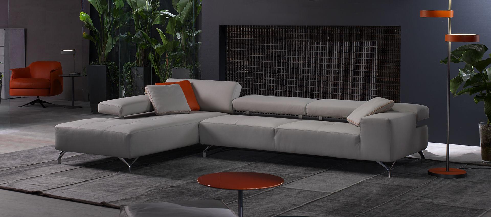 Modular sofa / contemporary / leather / reclining - MIAMI by Studio ...