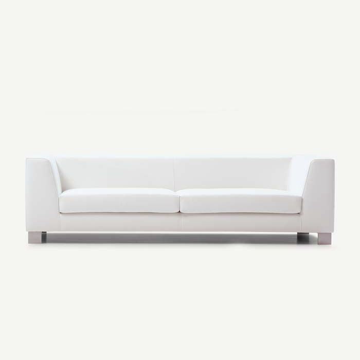 Contemporary Sofa / Fabric / 3 Seater / White   K2 By Santiago Castaño