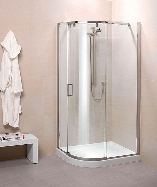 glass shower cubicle curved with sliding door silanus standard